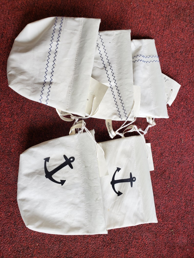 Recycled Sail Small Snap Top Pouch