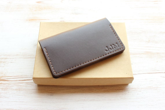 Business Card Holder Leather Business Card Case Personalized Etsy