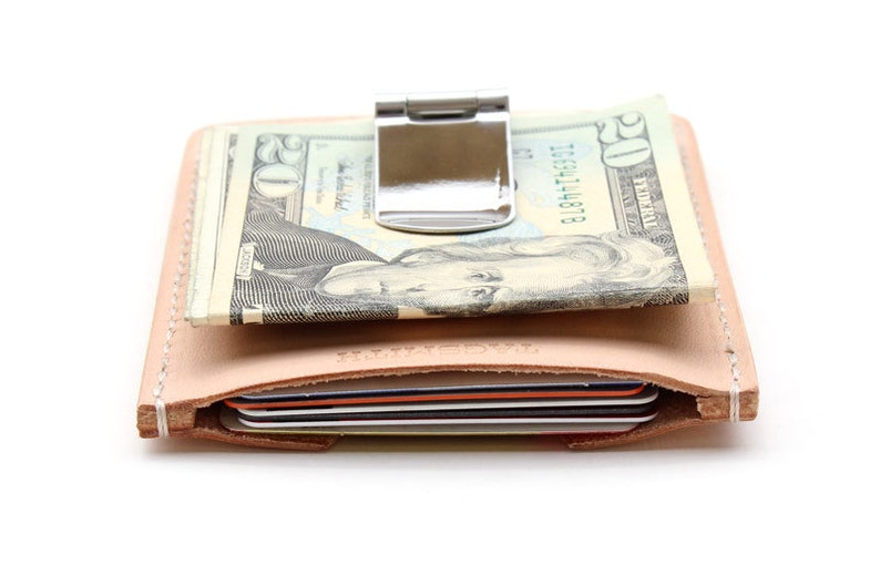 112d84fc4ed3 Mens Wallet Money Clip Card Holder Leather Money Clip | Etsy