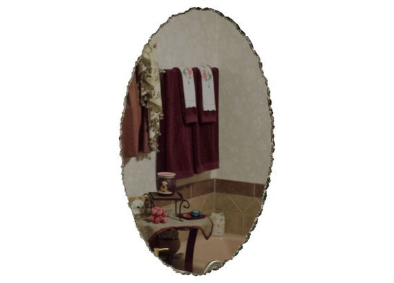 20 X 30 Frameless Oval Mirror Featuring Front Etsy