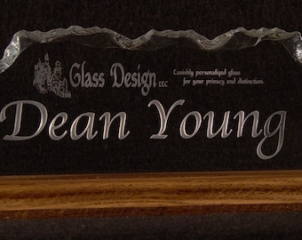 Glass Business Name Plate
