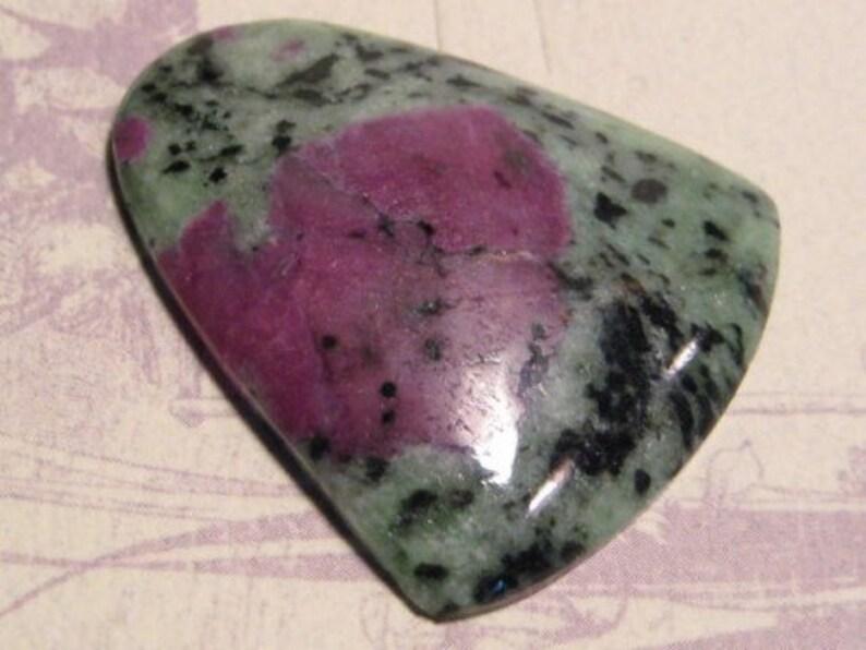 1878 Ruby in Zoiste pendant bead.. 42 x 37 x 7mm .........