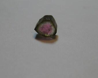baby  Watermelon Tourmaline slice  ............   4.7 x 4.7 x 3.18  mm  .......               B254