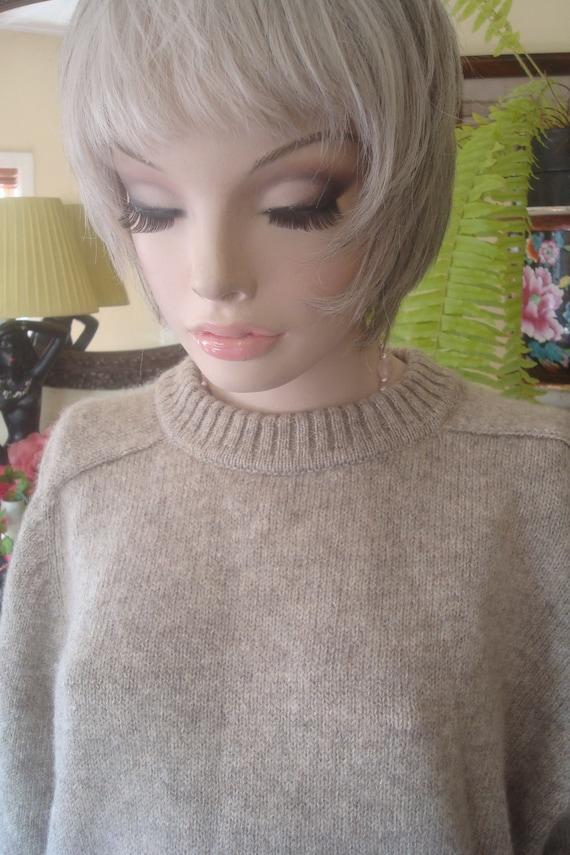 Vintage sweater mens vintage sweater beige coloure
