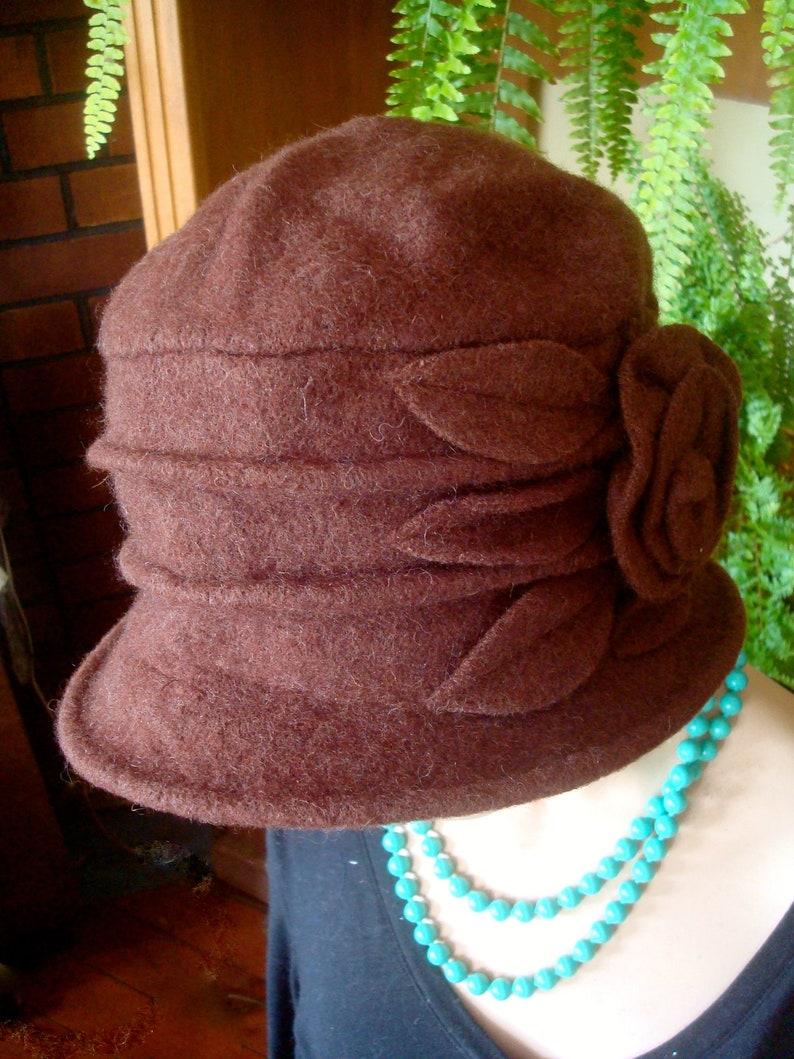 1e9bdf2d317 Womens hat womens brown hat wool hat brim hat womens soft hat