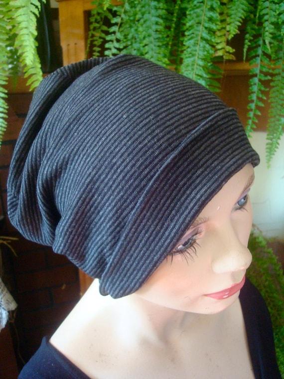 aa143f3dc womens slouchy hat fine merino striped hat womens chemo hat womens beanie  womens soft hat womens snood womens headcover womens tam