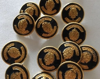 Free Postage Fast Dispatch Gold Metal Round Anchor Buttons 3 Sizes