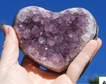 Amethyst Cluster Heart | Recovery Gift | Crown Chakra Crystal | Amethyst Geode | Amethyst Crystal  | Amethyst Heart | Intention Setting