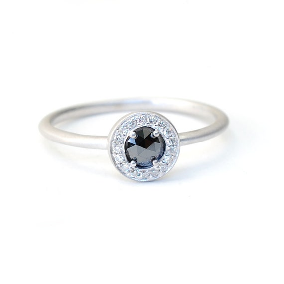Rose Cut Diamond Rose Cut Diamant Ring Verlobungsring Etsy