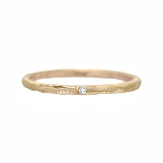 Kleine Diamant Ring Zarte Verlobungsring Stapeln Ringe Etsy