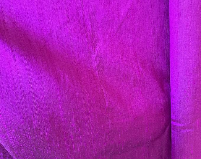 """Pink Purple 100% dupioni silk fabric yardage By the Yard 45"""" wide FREE USA SHIPPING at 35"""