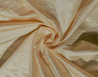 "Ivory Beige bridal 100% dupioni silk fabric yardage By the Yard 45"" wide FREE SHIPPING"