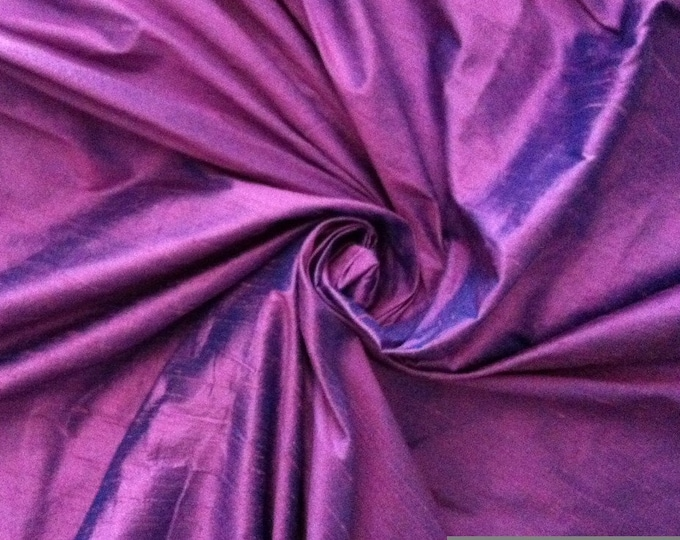 "Lavender Purple Turquoise Blue iridescent 100% dupioni silk fabric yardage By the Yard 45"" wide FREE SHIPPING"