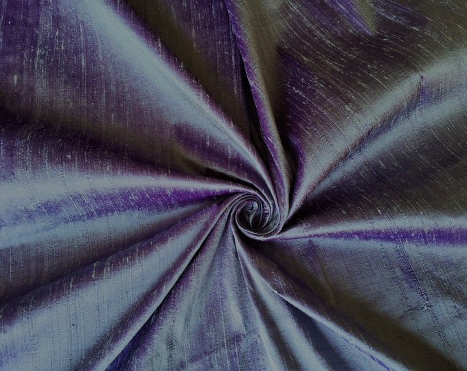 "Lavender Purple iridescent 100% dupioni silk fabric yardage By the Yard 45"" wide FREE SHIPPING"