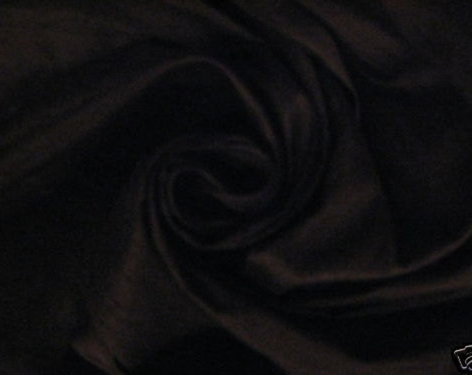 Black 100% Dupioni Silk Fabric Wholesale Roll/ Bolt