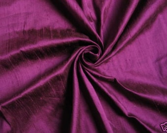 "Designer Purple 100% dupioni silk fabric yardage By the Yard 45"" wide"