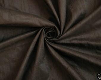 Chocolate Brown 2 100% Dupioni Silk Fabric Wholesale Roll/ Bolt