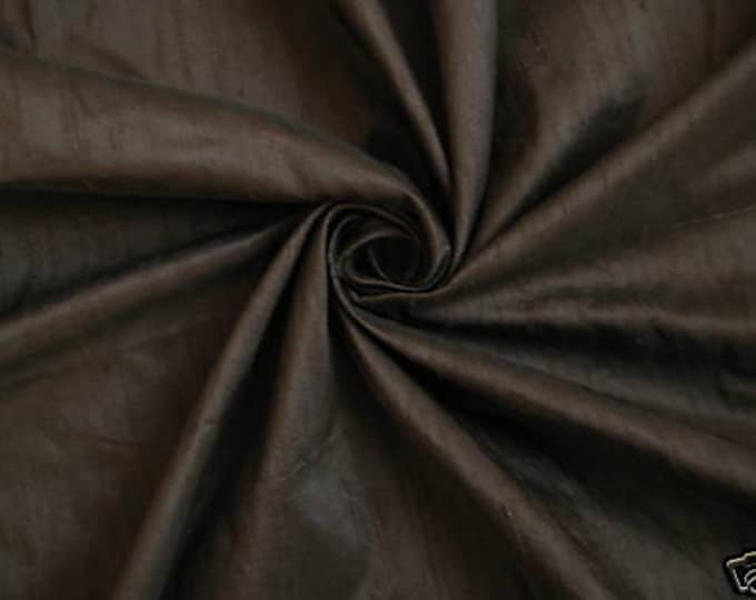 Chocolate Brown 2 100% Dupioni Silk Fabric Wholesale Roll/ Bolt