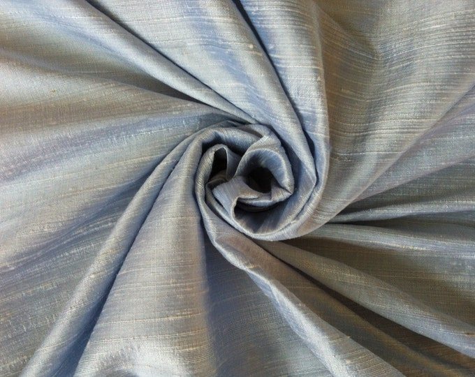 Light Baby Blue 100% Dupioni Silk Fabric Wholesale Roll/ Bolt