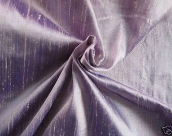 "Purple Lilac Lavender iridescent 100% dupioni silk fabric yardage By the Yard 45"" wide"