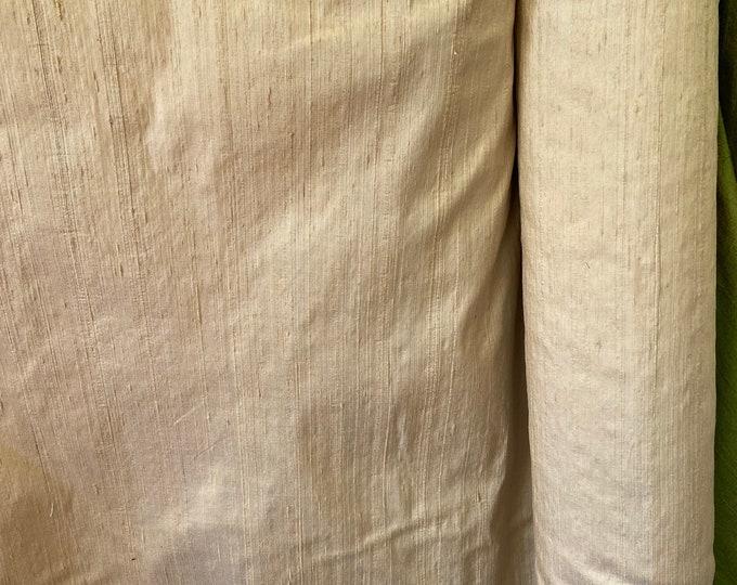 "Light Gold 100% dupioni silk fabric yardage By the yard 45"" wide FREE SHIPPING"