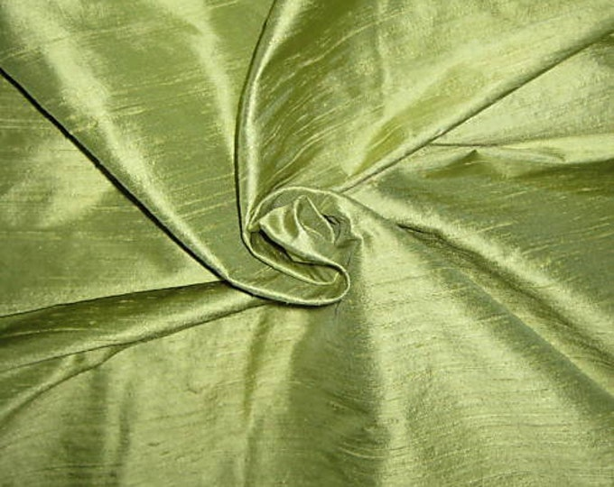 "Lime Green 100% dupioni silk fabric yardage By the Yard 45"" wide FREE SHIPPING"