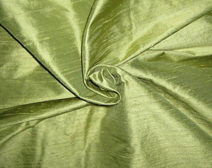 "Lime Green 100% dupioni silk fabric yardage By the Yard 45"" wide FREE USA SHIPPING at 35"