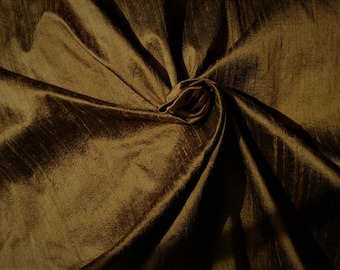 Chocolate Brown 100% Dupioni Silk Fabric Wholesale Roll/ Bolt
