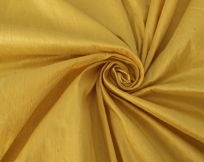 """Light Gold 100% dupioni silk fabric yardage By the Yard *Now 55"""" wide* FREE USA SHIPPING at 35"""