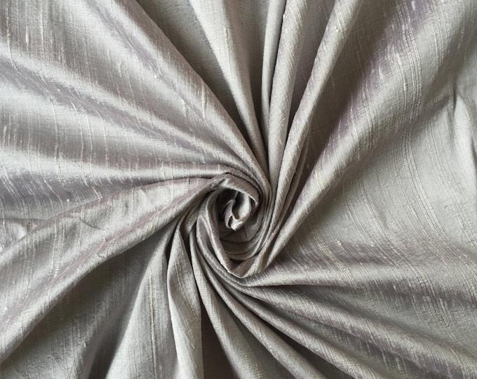 "Silver Gray Silver Grey bridal 100% dupioni silk fabric yardage By the Yard 45"" wide bridesmaids dresses tuxedos"