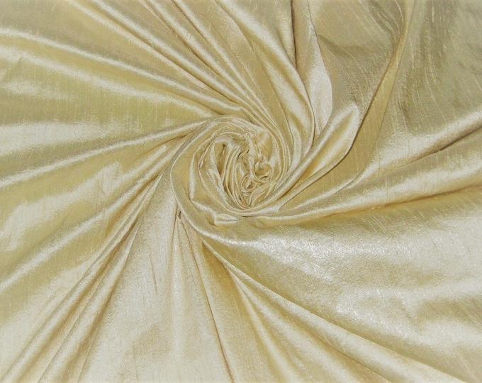 "Cream 100% dupioni silk fabric yardage By the Yard 45"" wide FREE USA SHIPPING at 35"