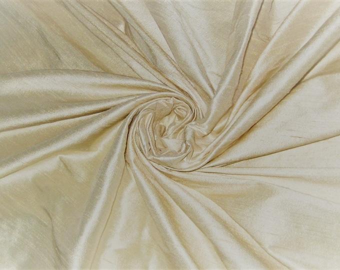 "Pure Ivory 100% dupioni silk fabric yardage By the Yard 45"" wide FREE USA SHIPPING at 35"