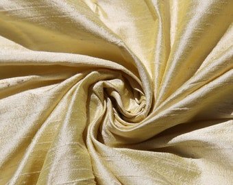 "Cream 100% dupioni silk fabric yardage By the Yard 45"" wide"