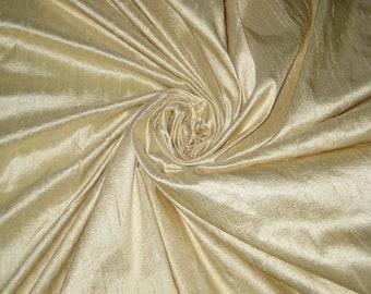 "Light Cream or Beige 100% dupioni silk fabric yardage By the Yard 45"" wide FREE USA SHIPPING at 35"
