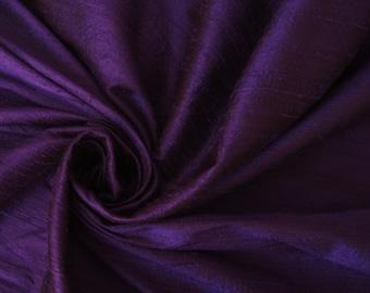 "Sapphire Purple 100% dupioni silk fabric yardage By the Yard 45"" wide FREE USA SHIPPING at 35"