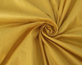 "Champagne Gold Green 100% dupioni silk fabric yardage By the Yard 45"" wide FREE USA SHIPPING at 35"