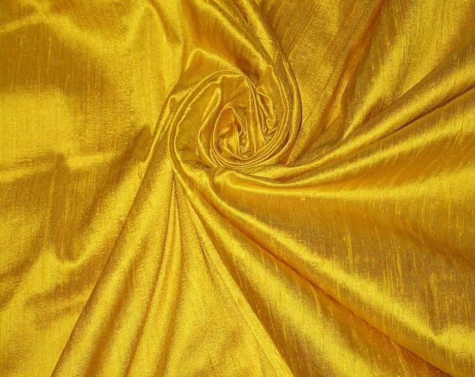 Bright Sun Sunny Yellow 100% Dupioni Silk Fabric Wholesale Roll/ Bolt 32 yards