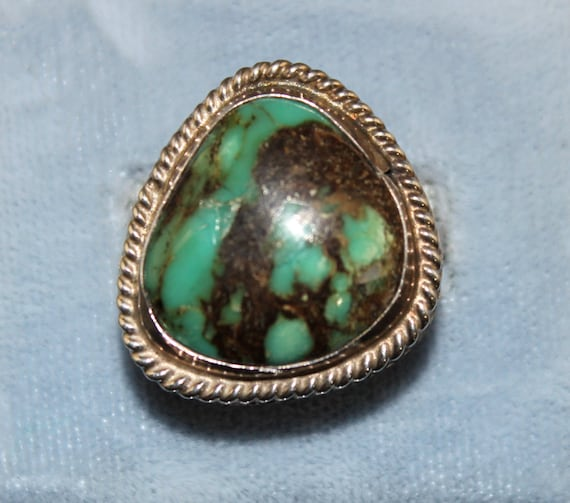 Old Pawn Green Turquoise Sterling Silver Southwest