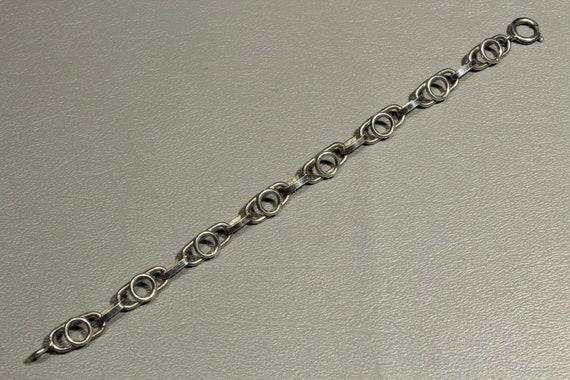Modernist 800 Silver Bracelet-Vintage Silver Signe