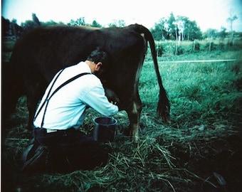 Fresh Milk- Fine Art Photography- Portrait- Dundee, New York- Holga