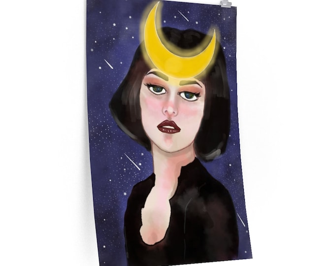 Featured listing image: Jaded Moon Goddess Posters