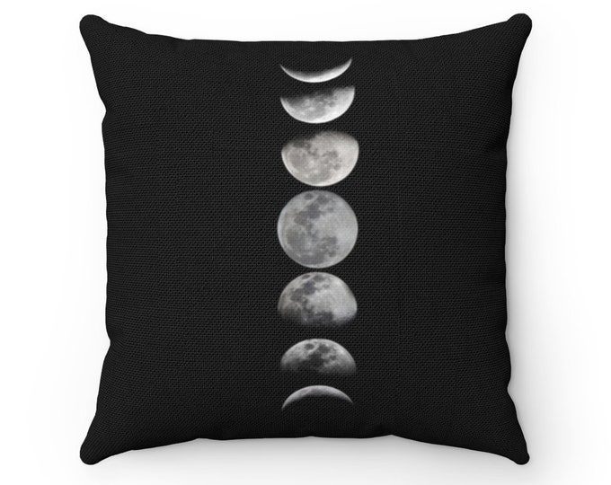 Featured listing image: Witchy Aesthetic Moon Phase Throw Pillow