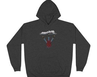 Three of Swords Tarot Cards Unisex EcoSmart® Pullover Hoodie Sweatshirt