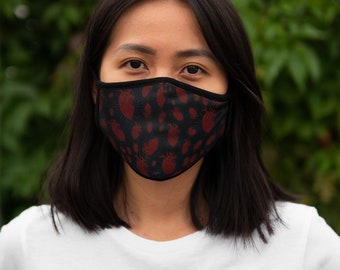 Anatomical Heart Print Fitted Polyester Face Mask
