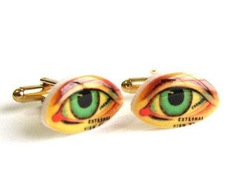 human eye cuff links