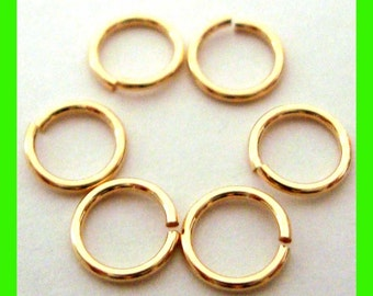 8 pieces 10mm 14gauge 14k ROSE gold filled open round jump rings charm connector RR10