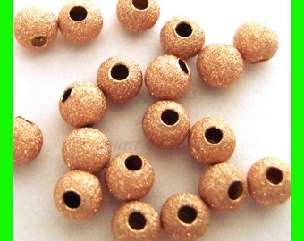 14k Gold Filled 8.0mm Sand Blasted Stardust Clover Bead 1.8mm Hole 4004780SB4LC