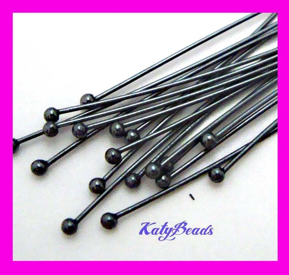100pcs solid Sterling Silver 26 gauge wire ball Head pin Headpins wholesale F69
