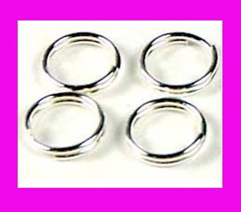 30pcs 6mm bright strong hard solid 925 Sterling SILVER Split Rings connector R36
