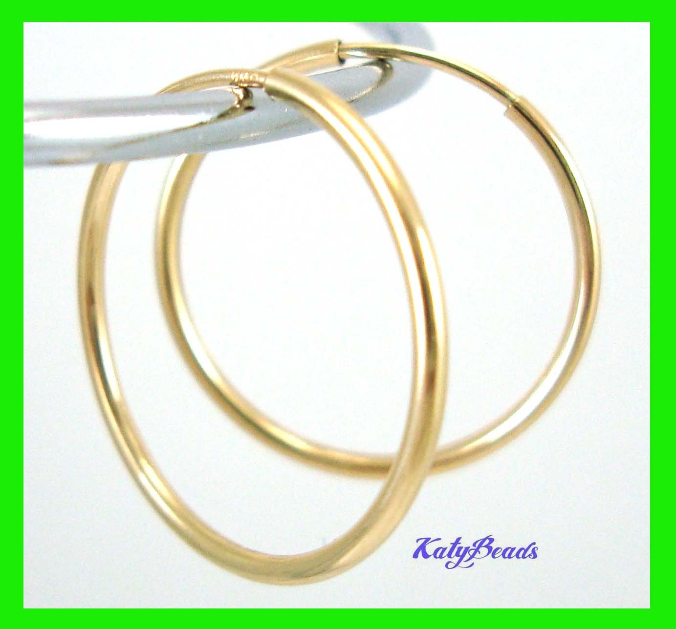 14k Gold Filled Endless hoop Earring 21mm Round Circle Ear Wire ...